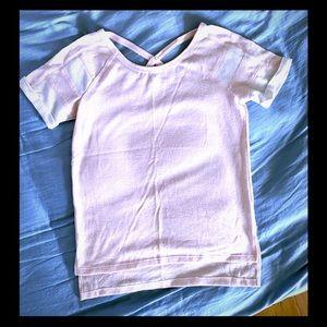 Splendid High Low Cap Sleeve Shirt